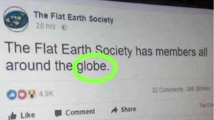Flat Earth Society all around the globe